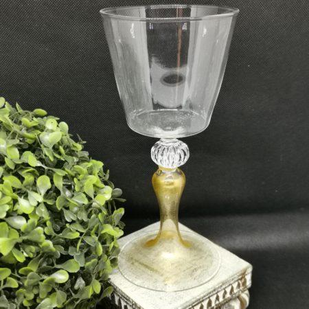 wineglass gold stem
