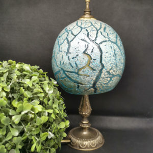 murano glass crackle table lamp