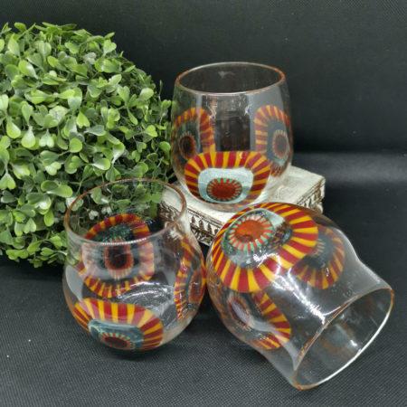 murano millefiori glasses
