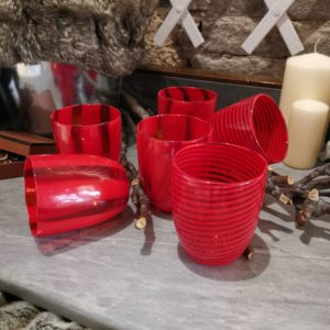 murano red glasses