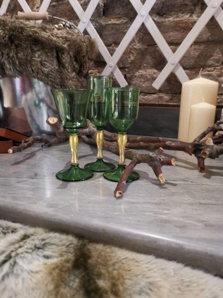 murano liqueur glasses