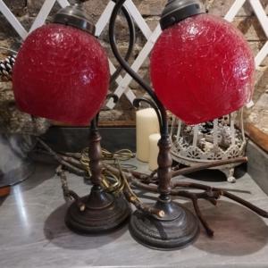 COPPIA LAMPADE DA TAVOLO-MURANO GLASS