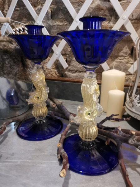candelieri in vetro murano