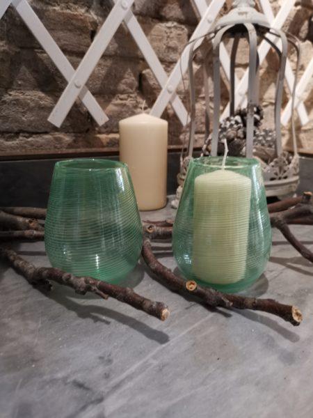 green murano glasses