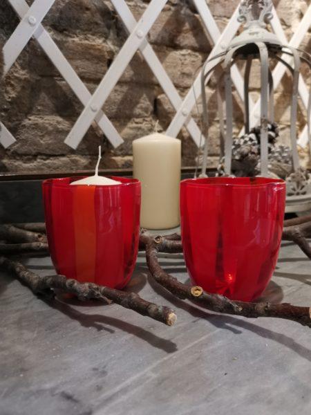 bicchiere murano rosso