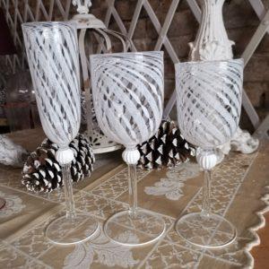 murano glass goblets